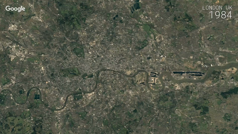 Google Earth's stunning time-lapses show the growth of cities over three decades