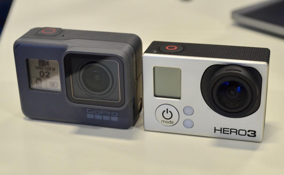 GoPro Hero 5 and Hero 3