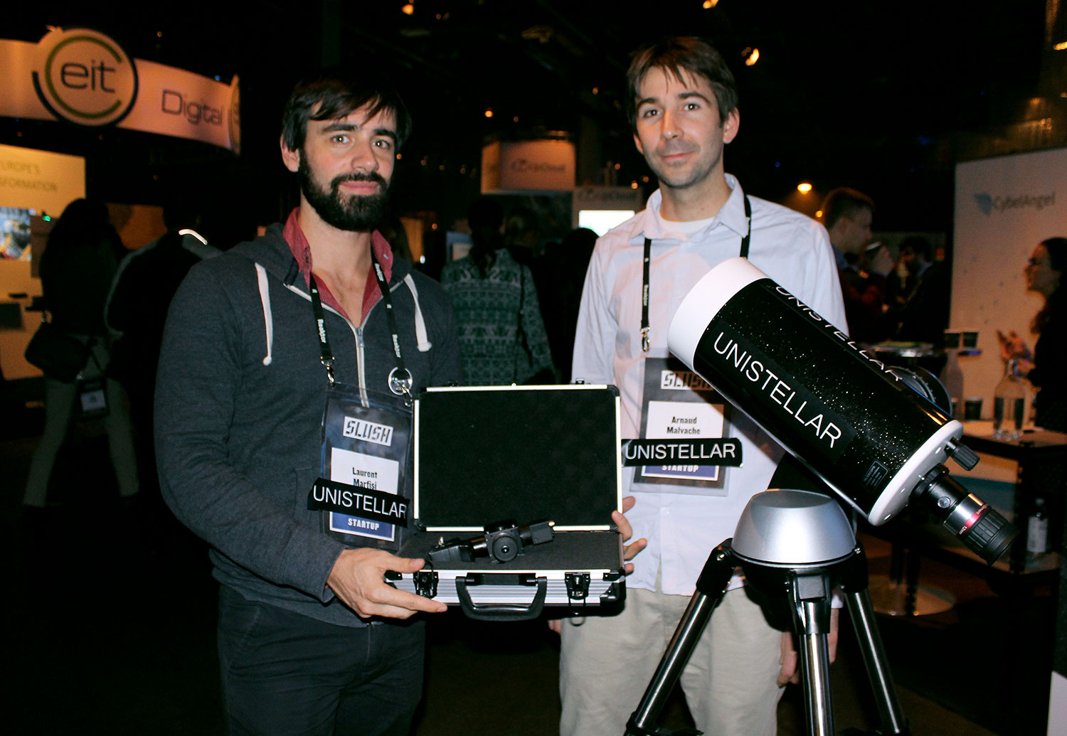 French startup Unistellar with their amplified vision telescope