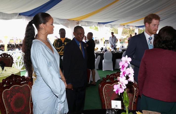 Prince Harry meets Rihanna