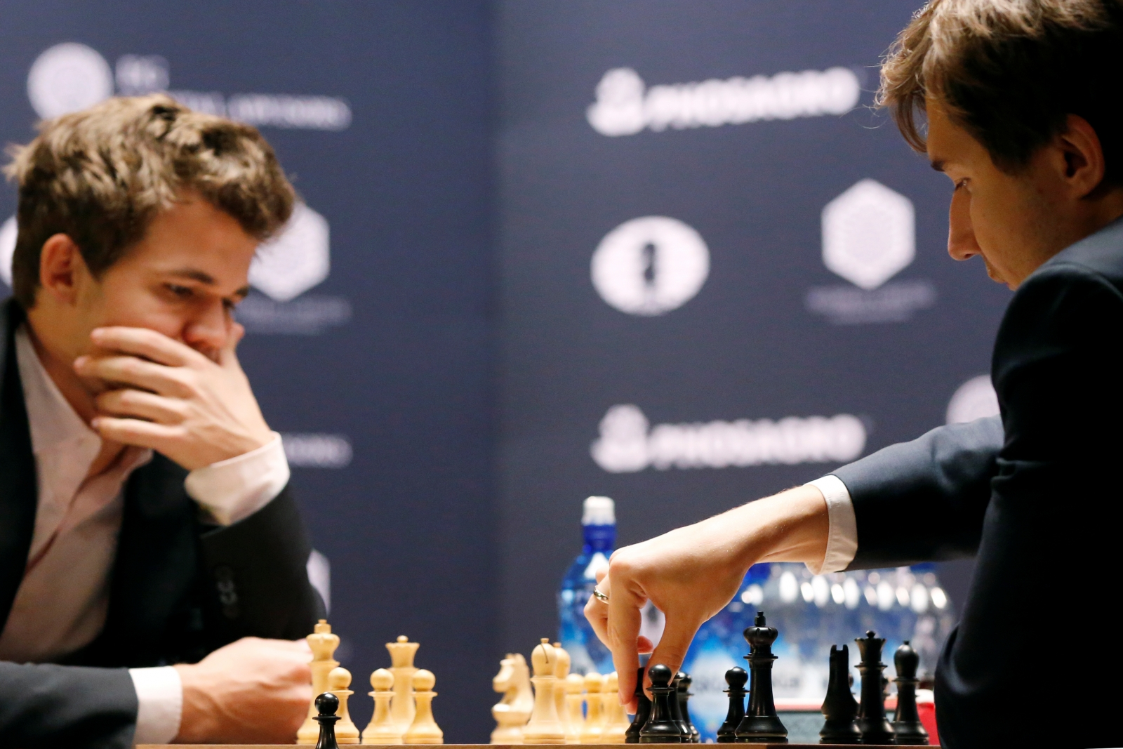 Chess champ triumphs against Russian challenger