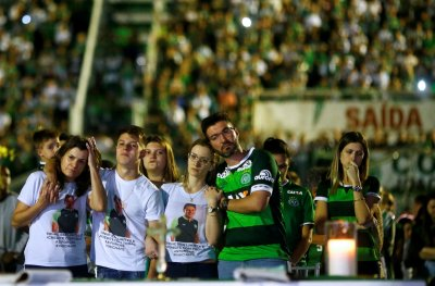 Chapecoense players tributes