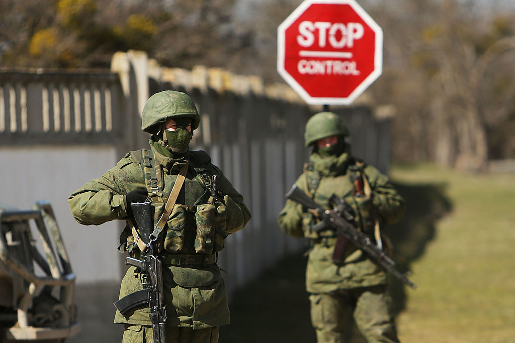 Russian soldiers Crimea