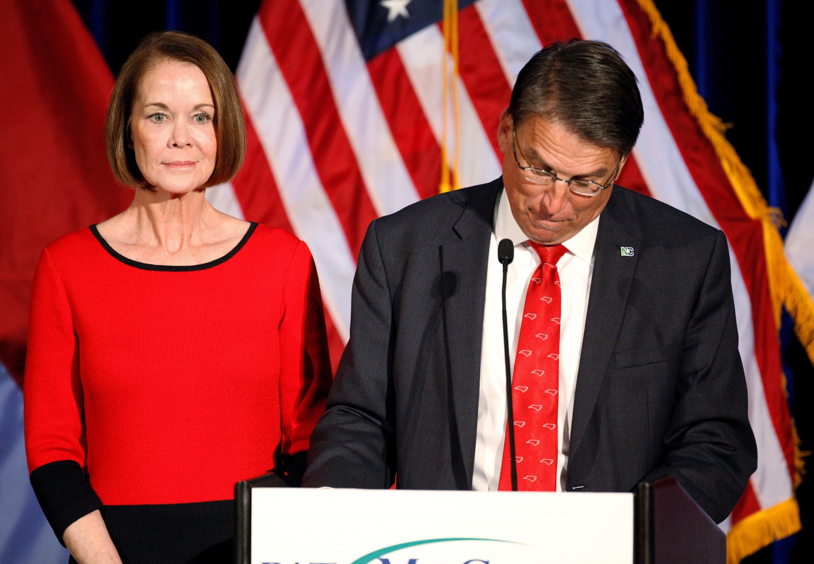 Nc Governor, Pat McCrory and wife, Ann