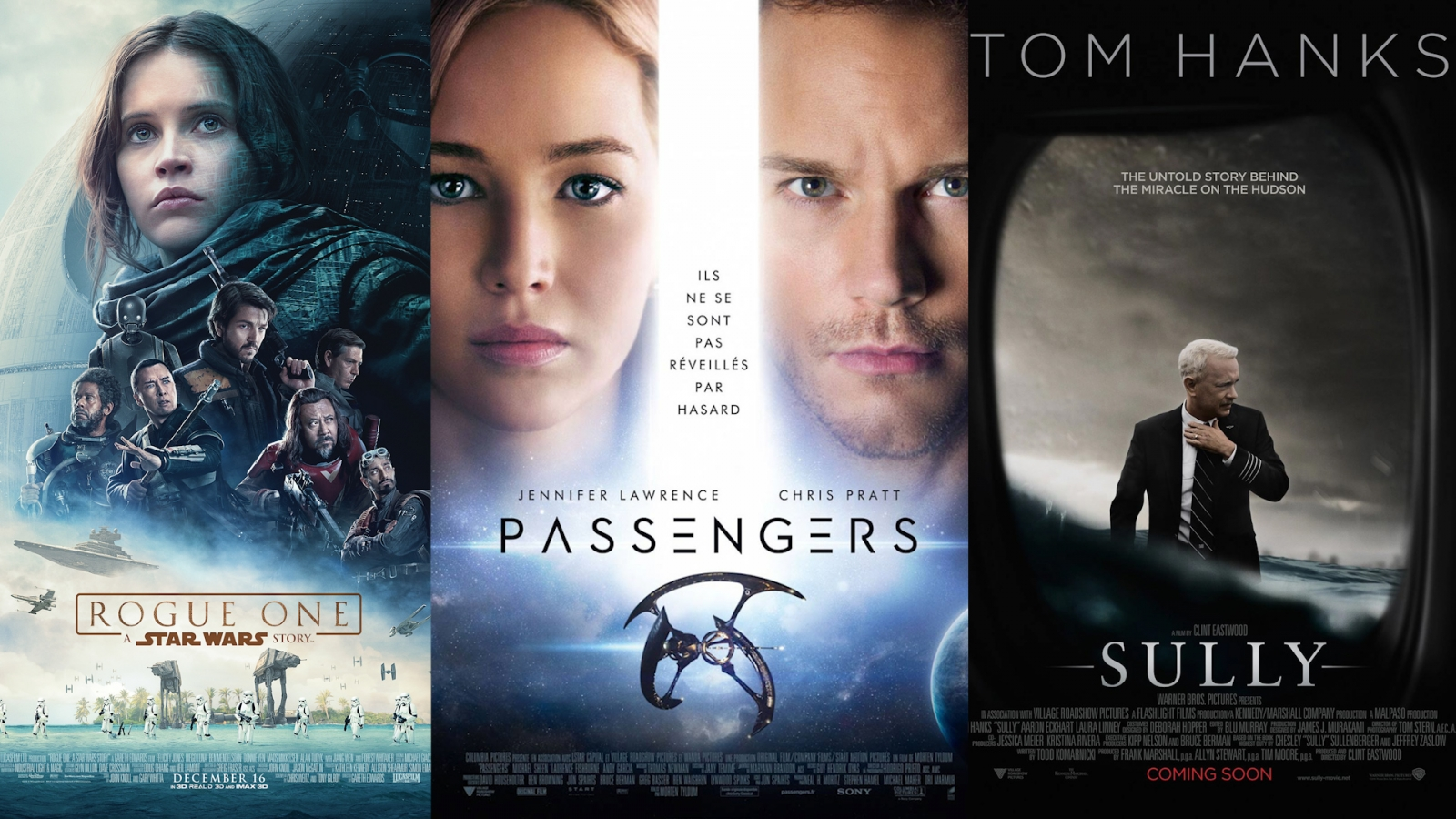 December film preview: Rogue One, Passengers and Sully