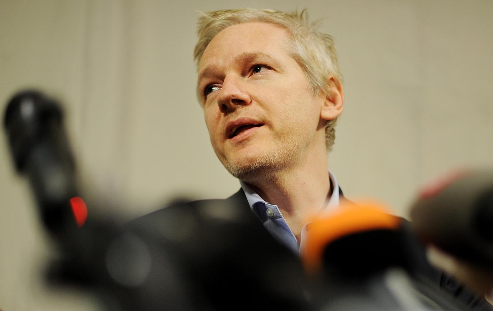 WikiLeaks founder Julian Assange speaks
