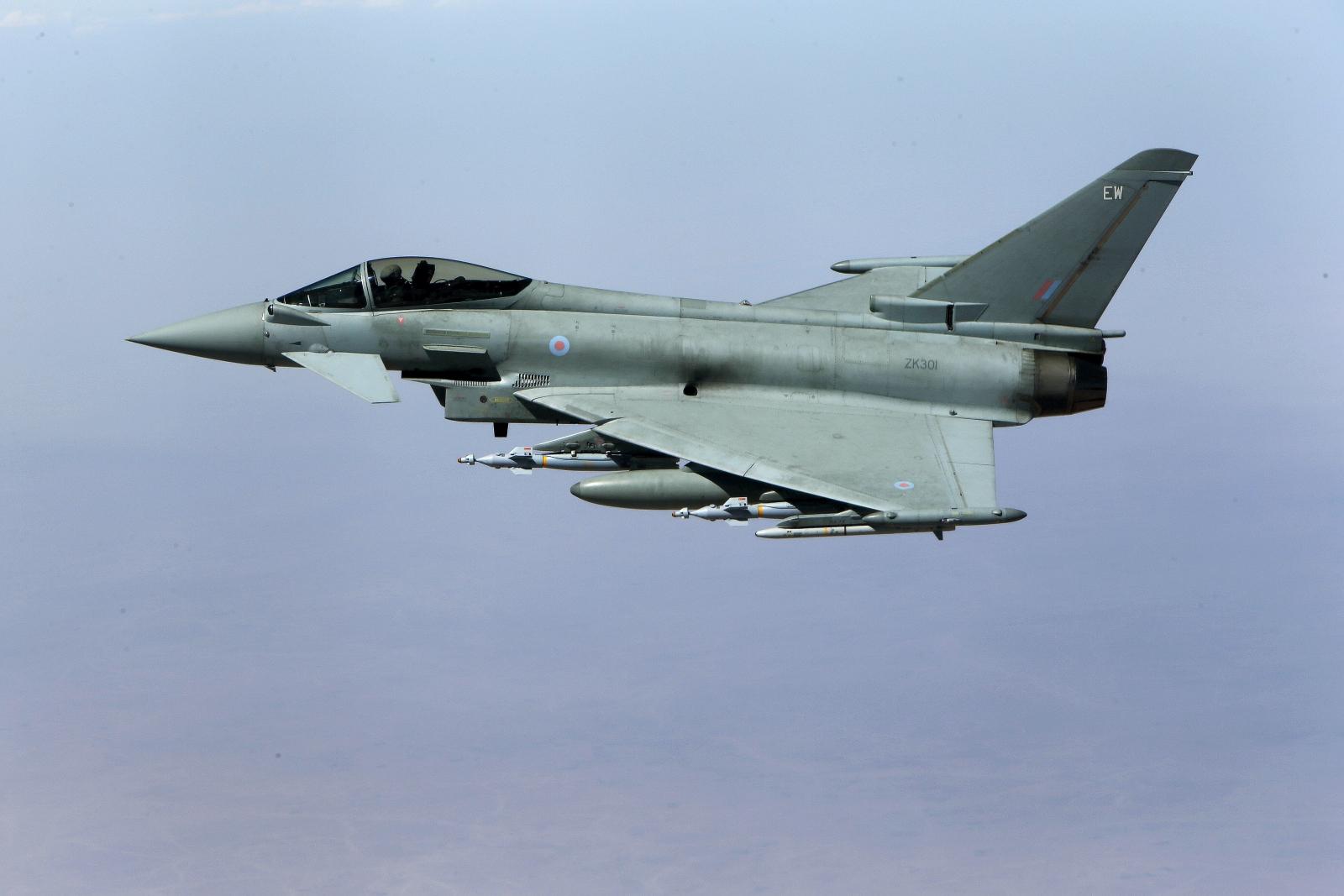British Typhoon aircraft
