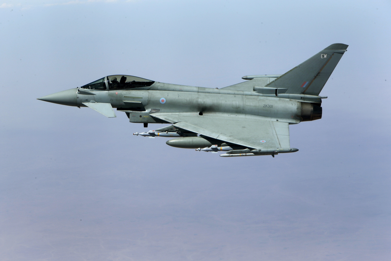 British Typhoon aircraft