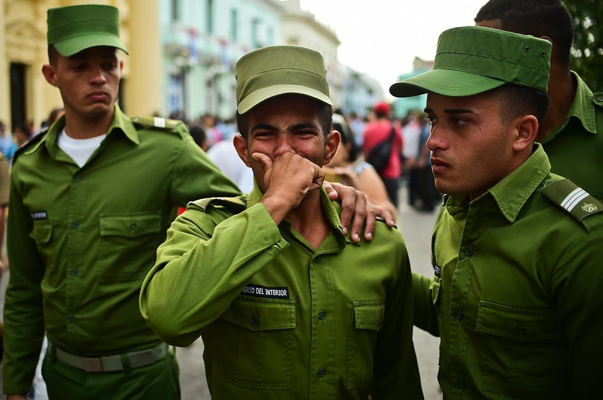 Fidel Castro funeral cortege