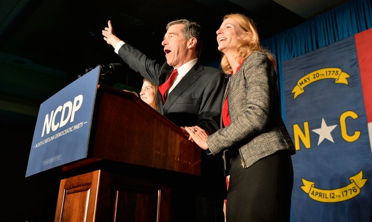 Roy Cooper and wife, Kristin