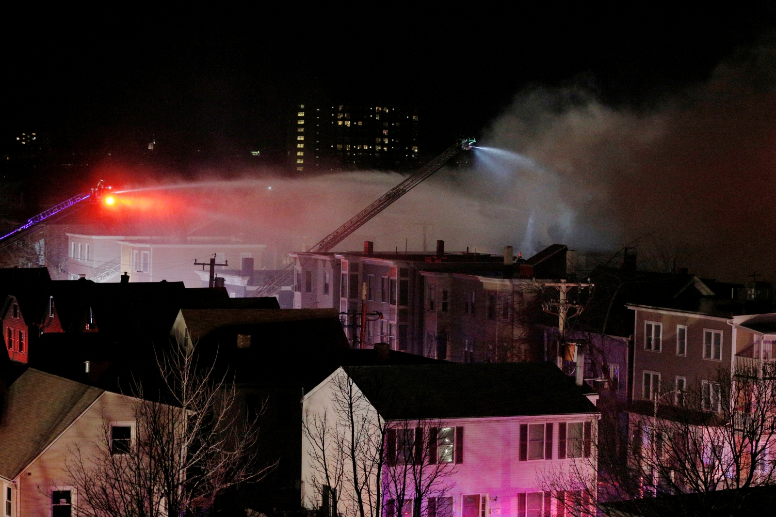 10-alarm fire engulfs buildings in Cambridge, Massachusetts