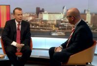 Paul Nuttall being questioned by Andrew Marr