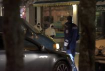 Police investigators at the area were three people were killed in a shooting incident at a restaurant in Imatra, Eastern Finland