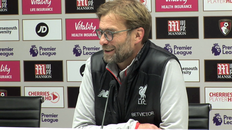 Jurgen Klopp: Clear who was the better side in today's match against Bournemouth