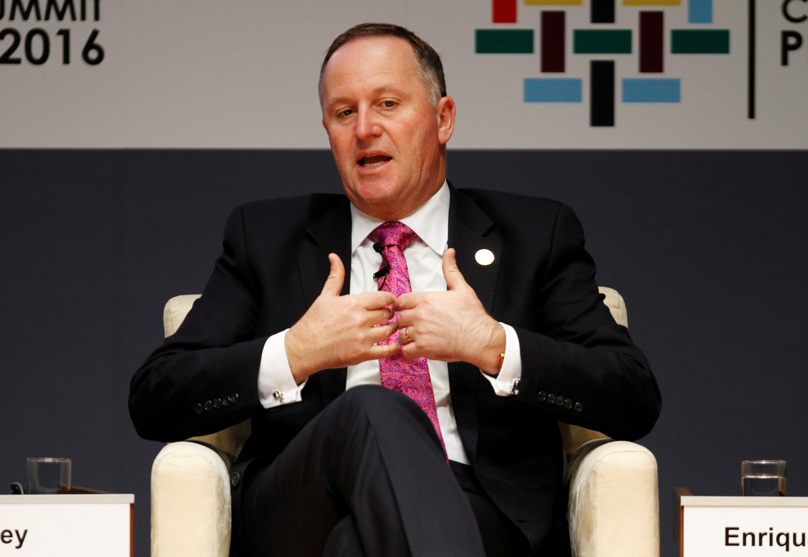New Zealand Prime Minister John Key announces resignation