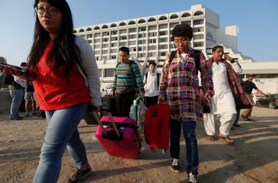 Karachi hotel fire