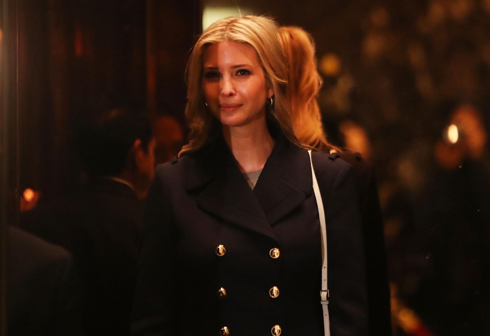 Ivanka Trump in Trump Tower elevator