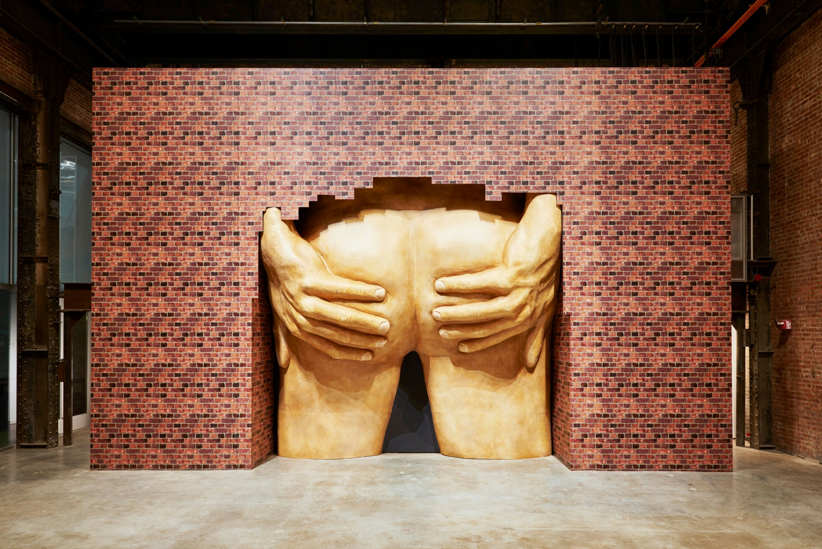 Anthea Hamilton's sculpture of golden buttocks