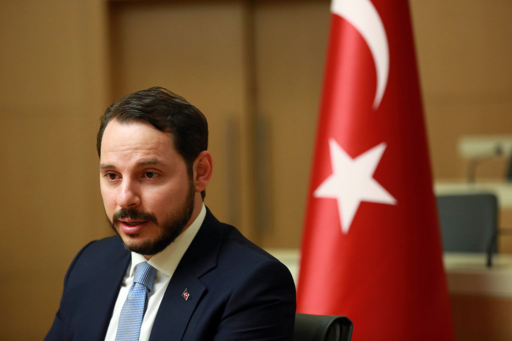 urkish Minister of Energy Berat Albayrak addresses the media in Ankara, on July 27, 2016.