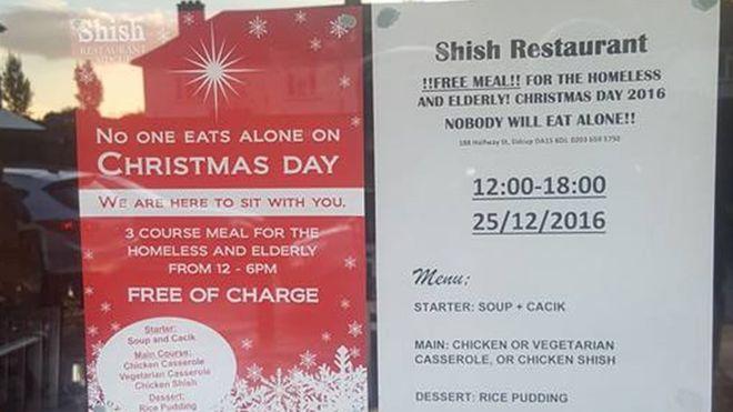 shish restaurant sidcup christmas 2016