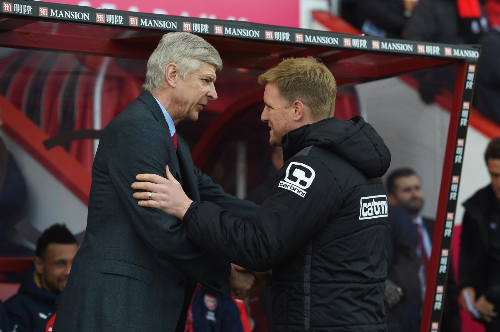 Arsene Wenger and Eddie Howe