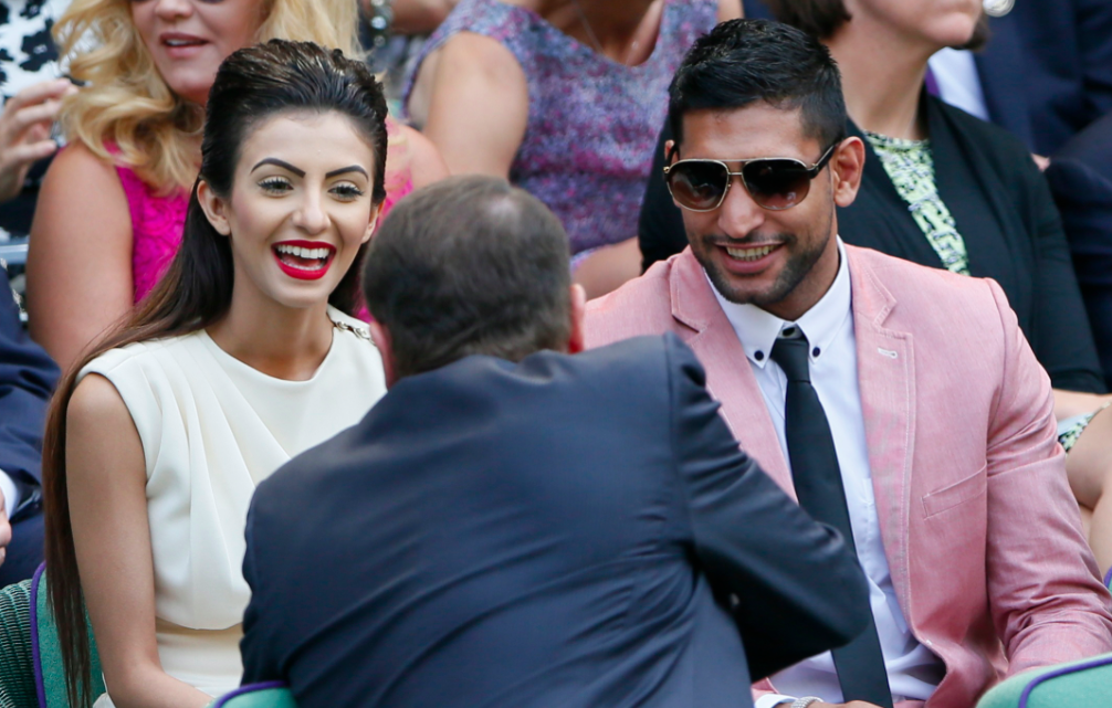 Faryal and Amir at Wimbledon