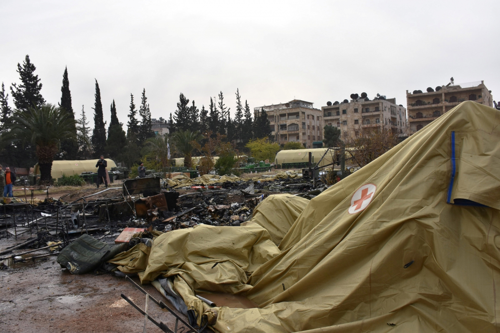 Military hospital attack, Aleppo