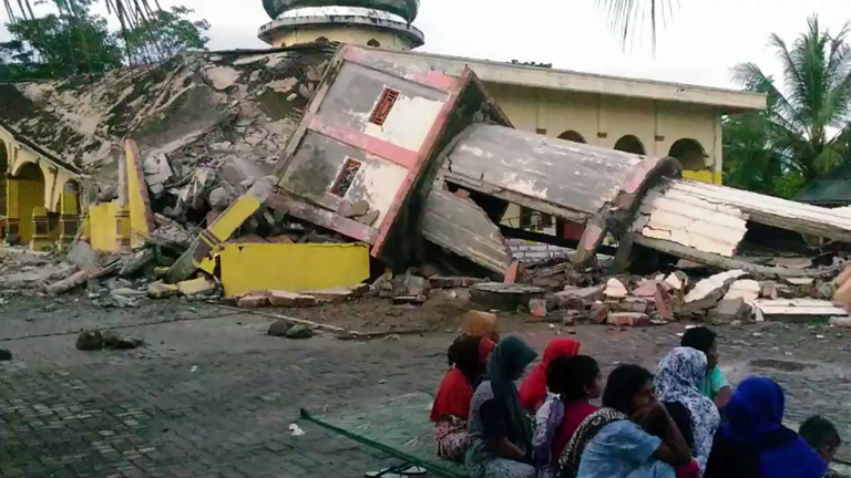 Massive earthquake strikes Indonesia killing dozens of people