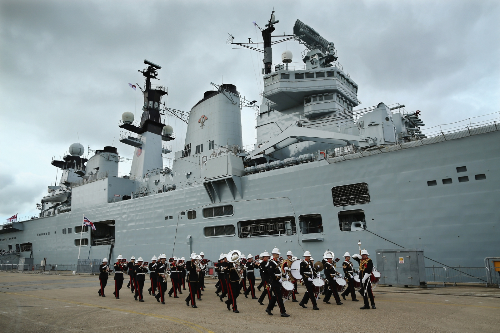 HMS Illustrious during her decommissioning ceremony
