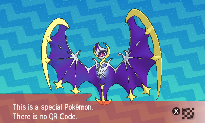 Pokemon Sun Moon QR Code Lunala