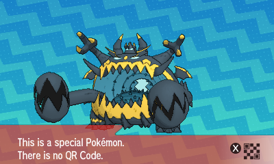 Pokemon Sun Moon QR Code Ultra Beast
