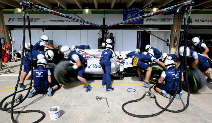 Williams F1 pitstop