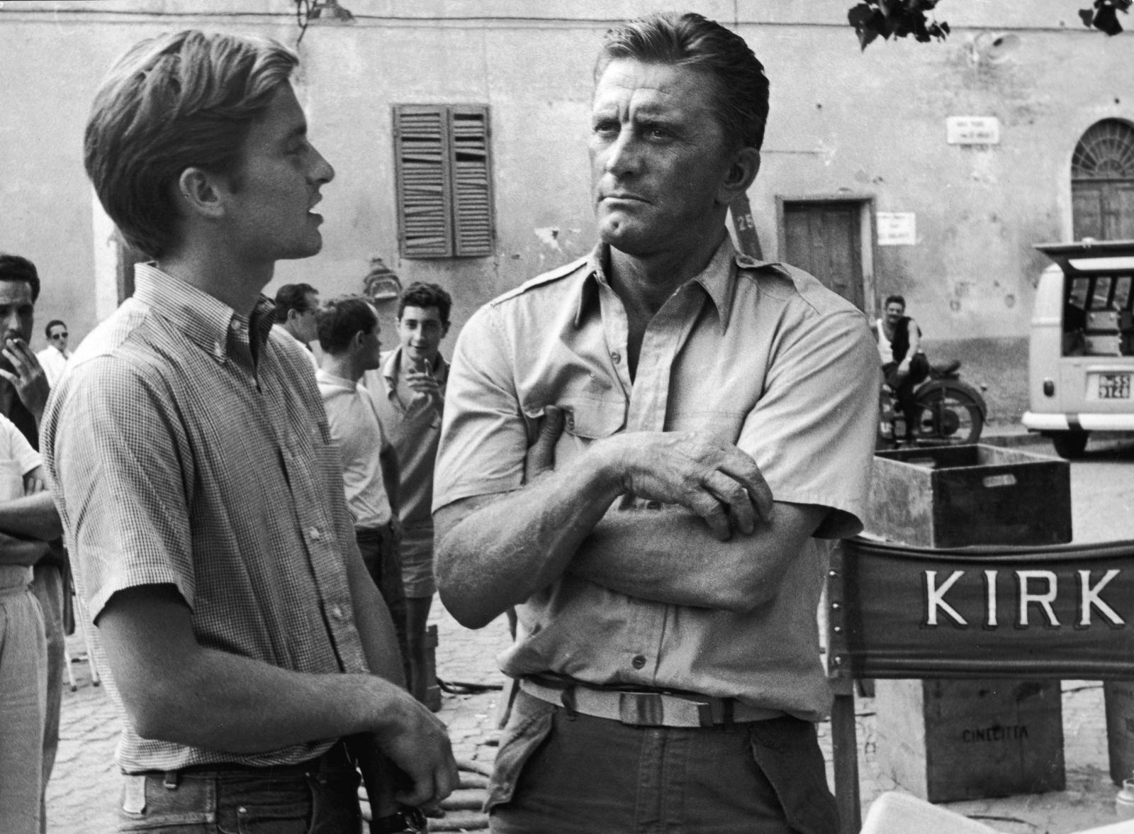 Michael Douglas and Kirk Douglas