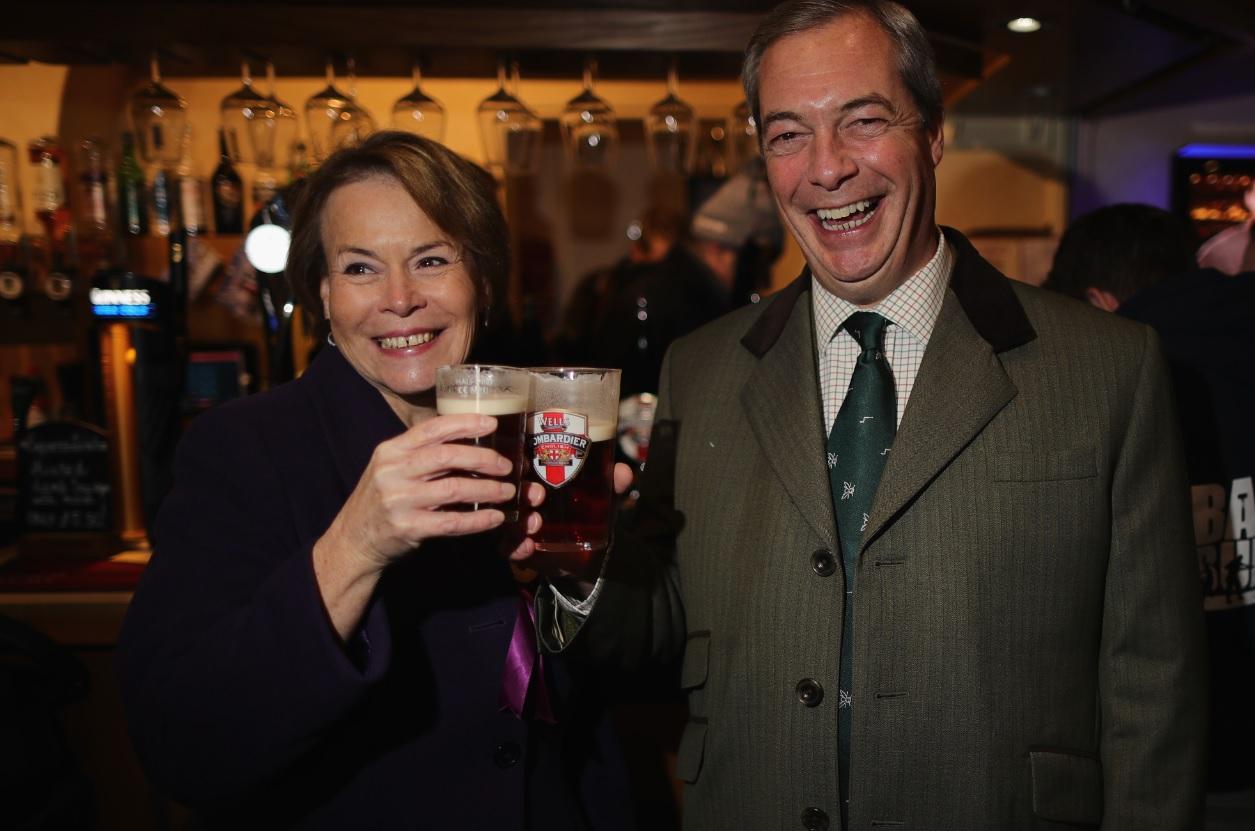 Victoria Ayling and Nigel Farage