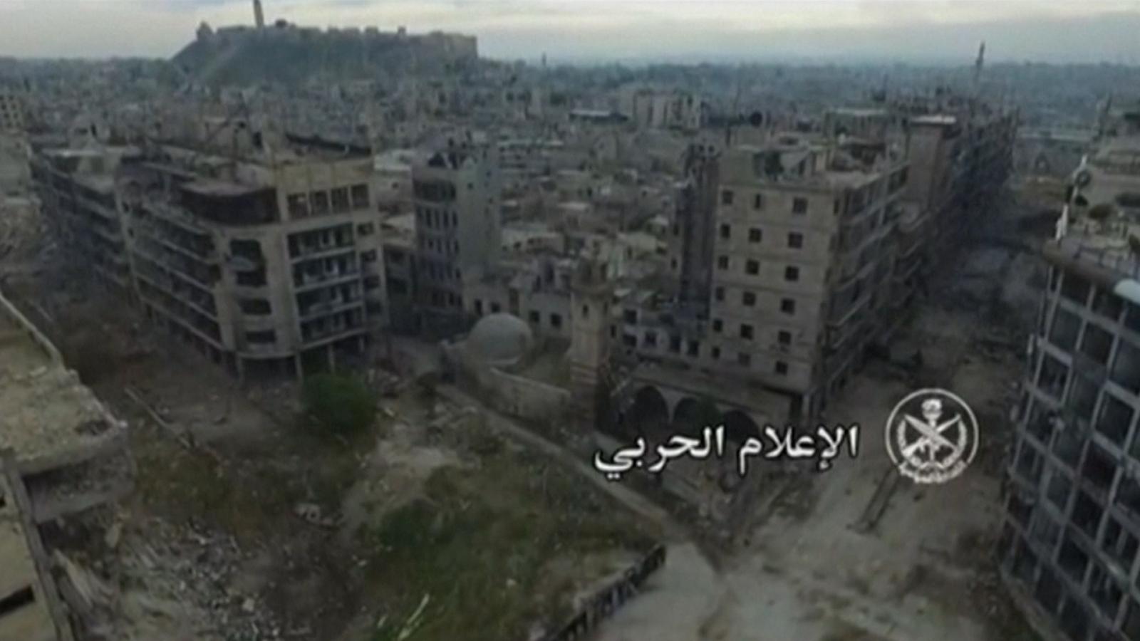 Drone footage shows destruction of historic Aleppo