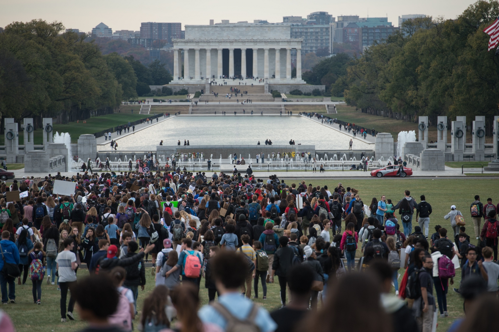 Lincoln memorial protests