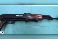 A loaded Kalashnikov assault rifle was foundinthe