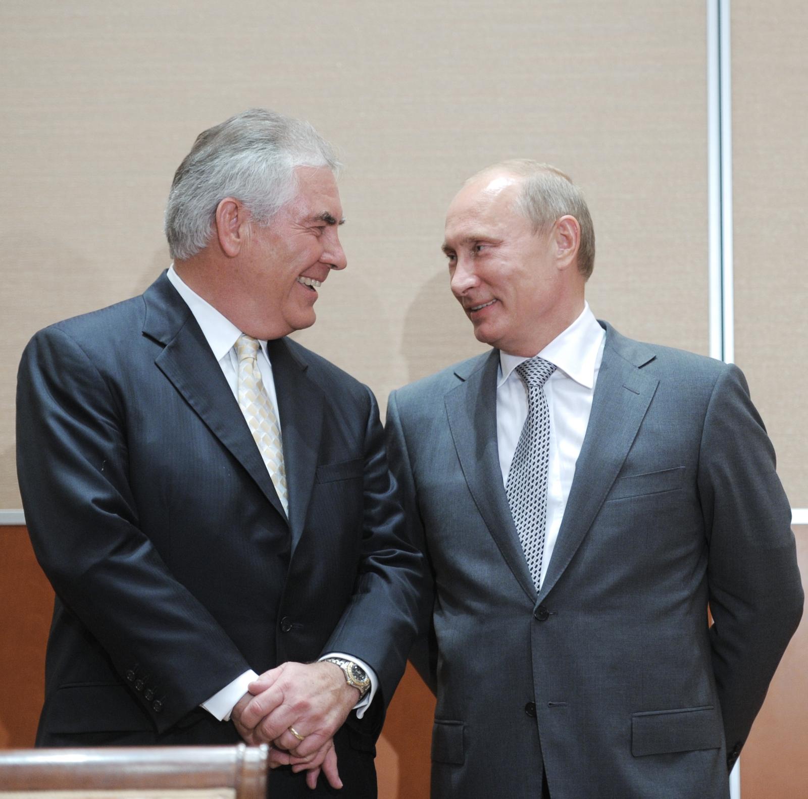 ExxonMobil Tillerson Putin