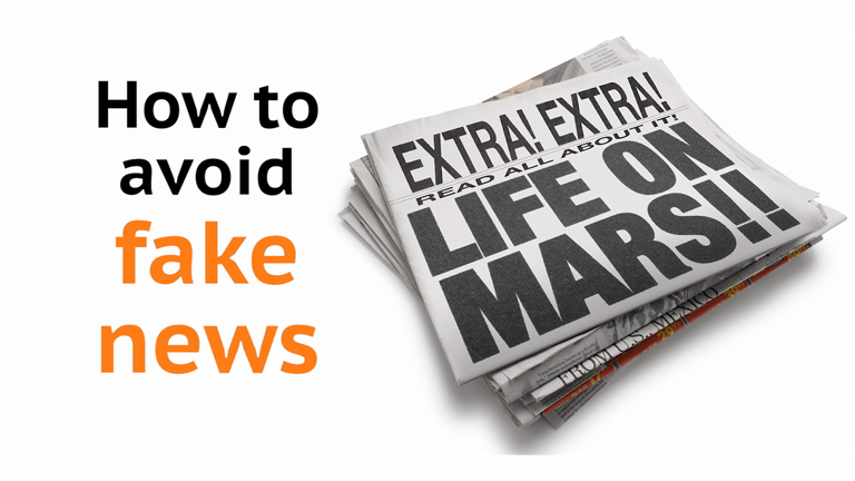 Four top tips for avoiding fake news