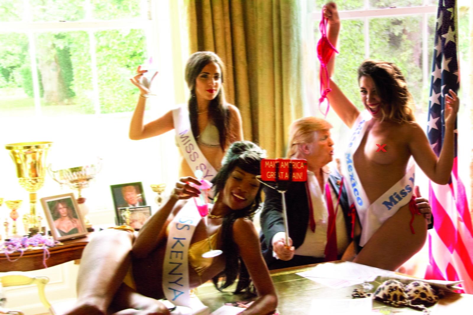 Trump spoof image lookalike