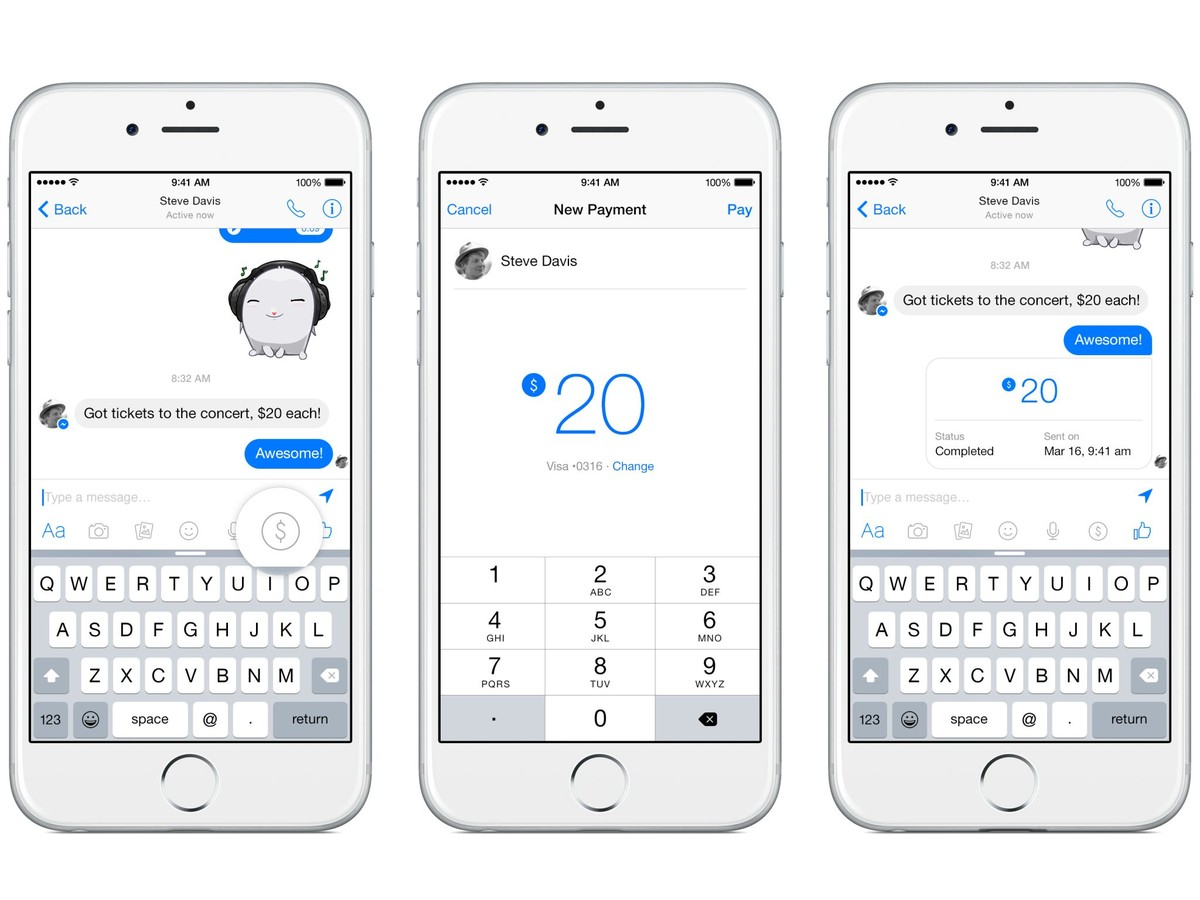 Facebook Messenger Payments EU launch