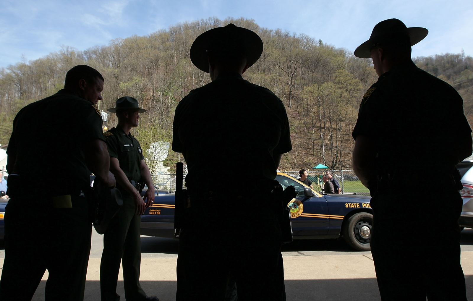 West Virginia state police officers
