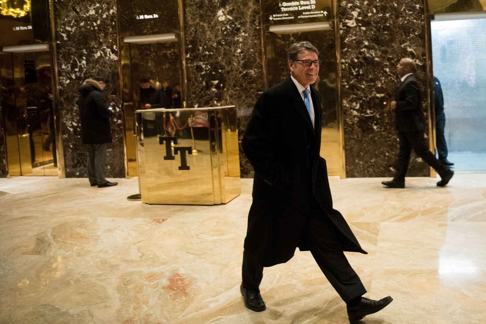 Rick Perry leaves Trump Tower