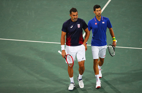 Novak Djokovic and Nenad Zimonjic