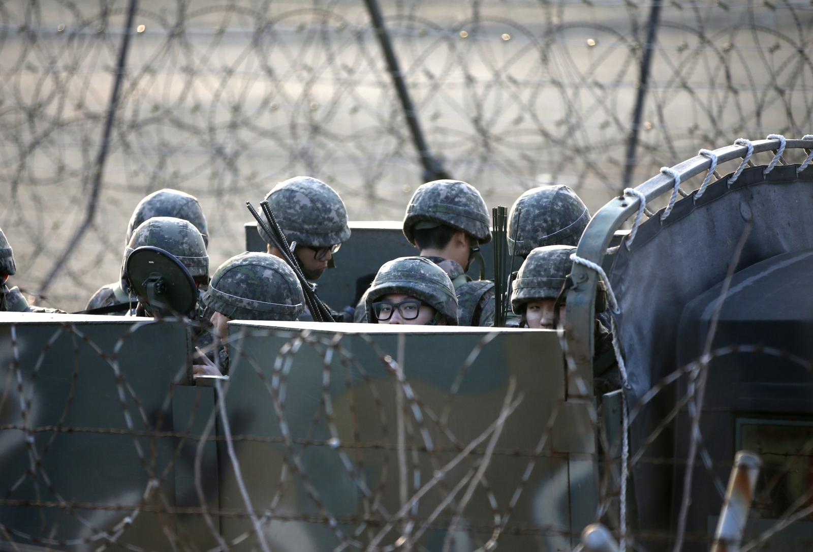 South Korea military base explosion