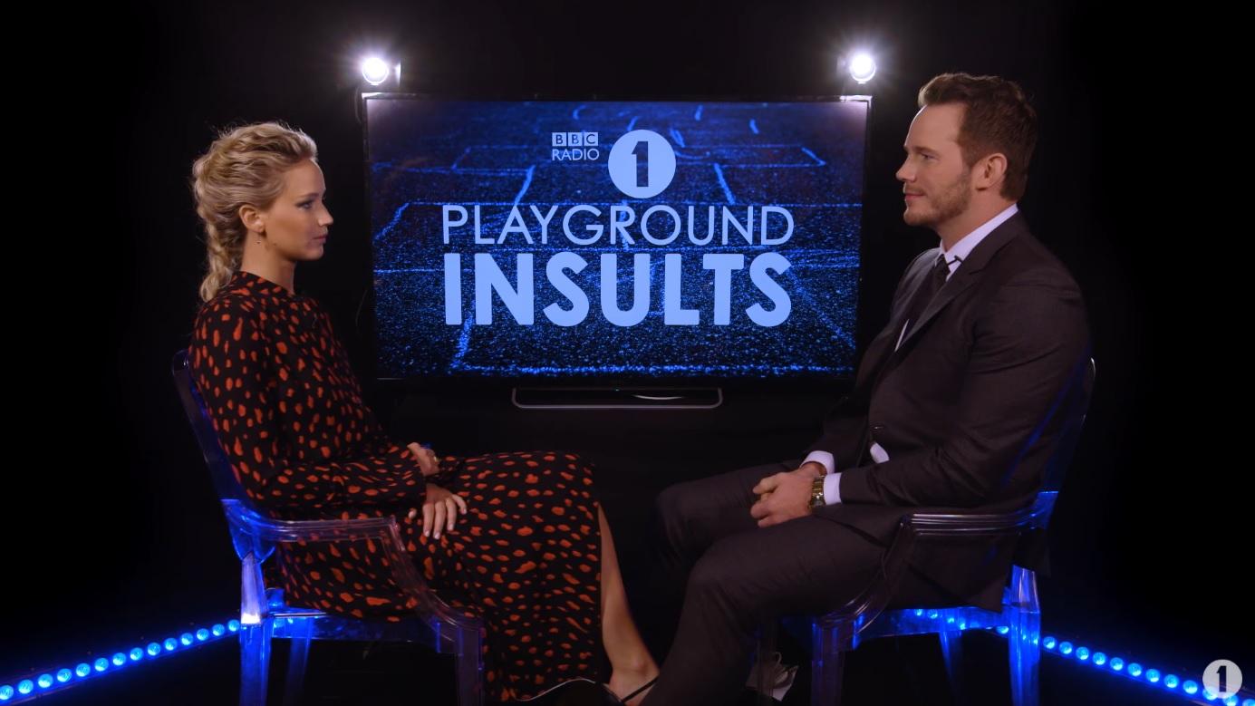 Playground Insults: Jennifer Lawrence and Chris Pratt