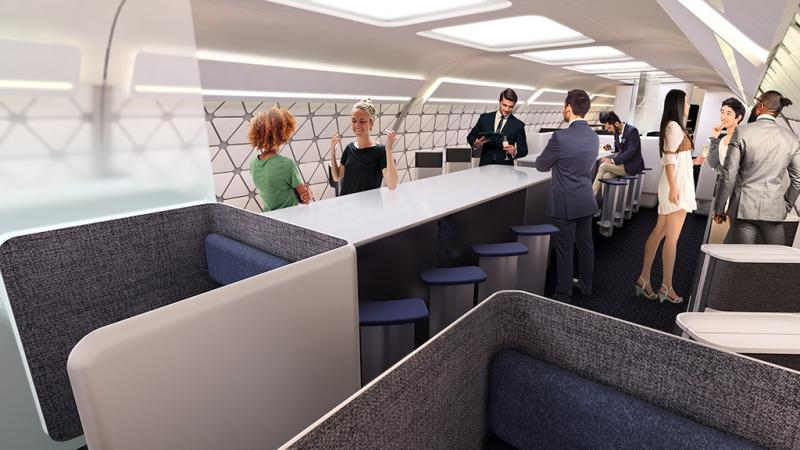 Airbus plane of the future modular cabin