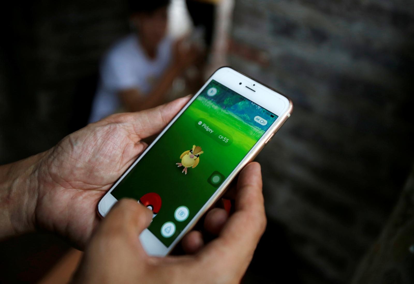 Pokemon Go on iPhone