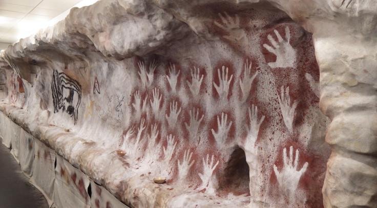Palaeolithic hand stencils