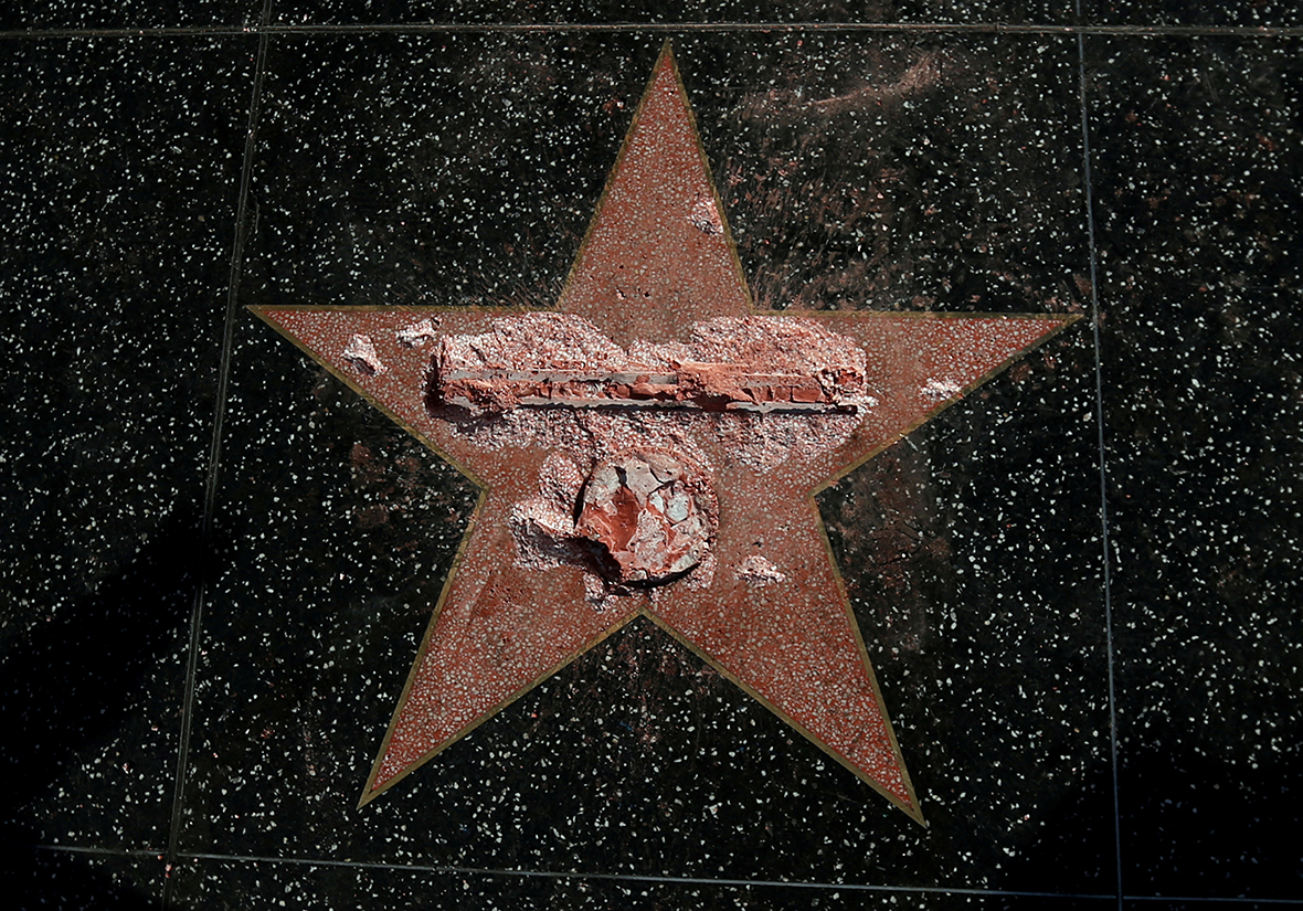 Trump walk of fame